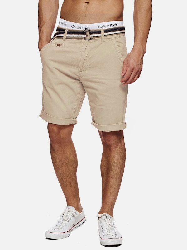 INDICODE JEANS Shorts 'Cuba' in creme: Frontalansicht