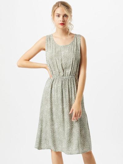 Soyaconcept Letné šaty 'Immely 3' - béžová / tmavozelená: Pohľad spredu