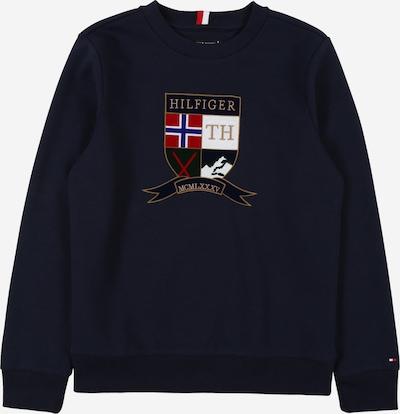 TOMMY HILFIGER Sweater majica u mornarsko plava / zlatno žuta / svijetlocrvena / bijela, Pregled proizvoda