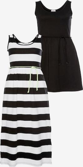 FLASHLIGHTS Jerseykleid in schwarz / weiß, Produktansicht