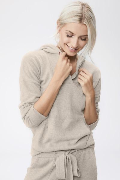 LeGer by Lena Gercke Pull-over 'Mila' en beige, Vue avec modèle