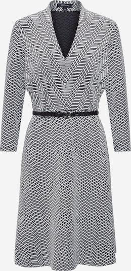 COMMA Robes en maille en noir / blanc, Vue avec produit