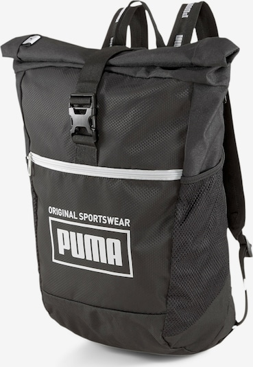 PUMA Sportrugzak 'Sole' in de kleur Zwart / Wit, Productweergave