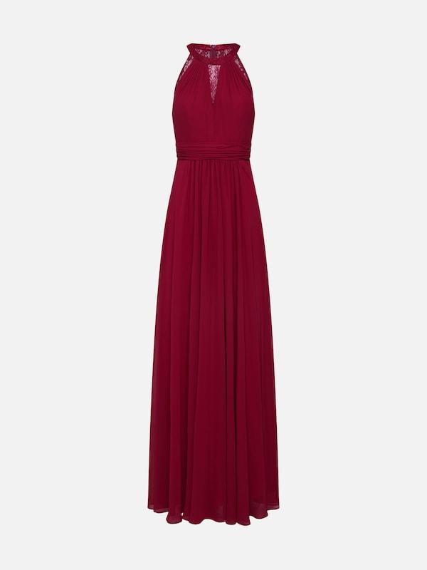 d277b937b3 mascara Suknia wieczorowa  LACE INSET  w kolorze czerwone winom ...