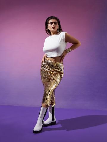 Sparkling Midi Skirt Look