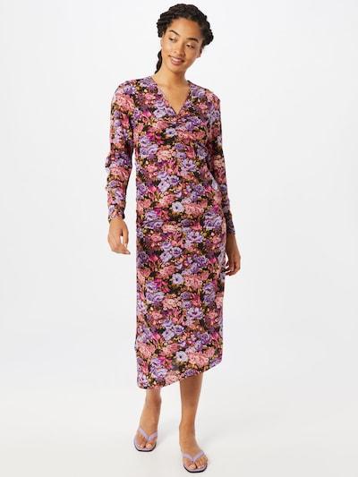 Stella Nova Kleid 'Aida' in khaki / lila / pink / schwarz, Modelansicht