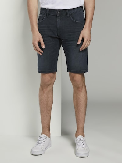 TOM TAILOR DENIM Shorts in black denim: Frontalansicht