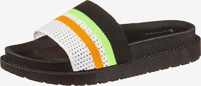 Kamoa Badelatschen 'PS MILA' in hellgrün / orange / schwarz / weiß, Produktansicht