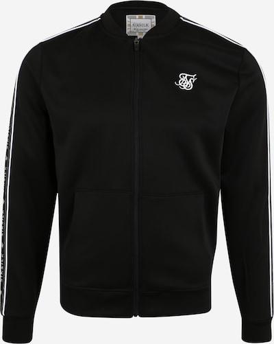 SikSilk Sweatjacke in schwarz, Produktansicht