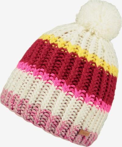 Barts Mütze 'Niyebe' in creme / gelb / pink / rot, Produktansicht