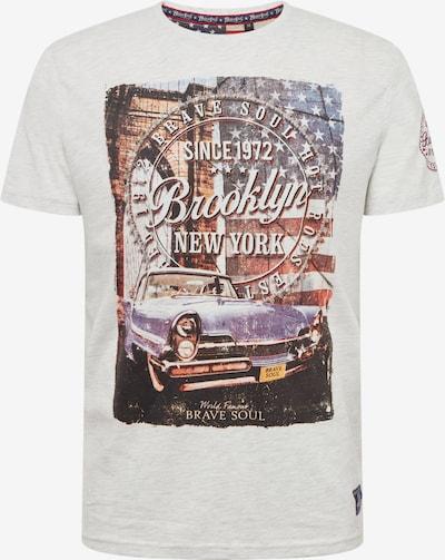 BRAVE SOUL T-Shirt in hellgrau / mischfarben, Produktansicht