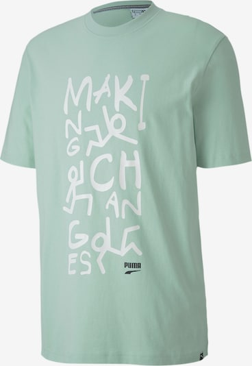 PUMA Shirt 'Downtown Graphic' in mint, Produktansicht