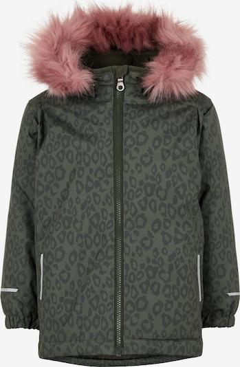 NAME IT Winterjacke 'Snow08' in dunkelgrau / khaki, Produktansicht