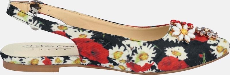 heine Sandalette mit Blüten-Applikation