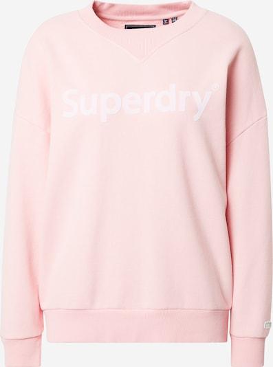 Superdry Sweatshirt in rosa / weiß, Produktansicht