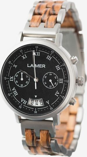 LAiMER Herren Armbanduhr Holzuhr 'Leon' in ocker, Produktansicht