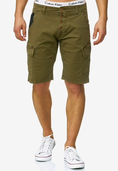 INDICODE JEANS Shorts 'Hedworth' in khaki: Frontalansicht