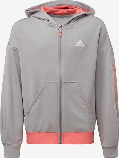 ADIDAS PERFORMANCE Sportief sweatvest 'UP2MV Aeroready' in de kleur Grijs gemêleerd / Kreeft / Wit, Productweergave