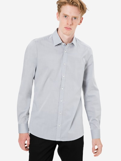 OLYMP Biroja krekls 'Level 5 Chambray' gaiši pelēks: Priekšējais skats