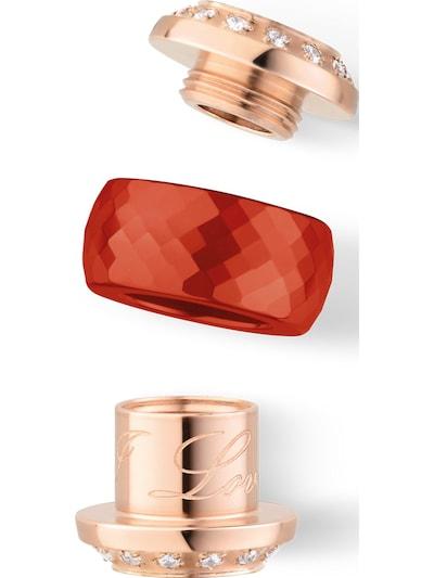 BERING Anhänger in rosegold / rot, Produktansicht