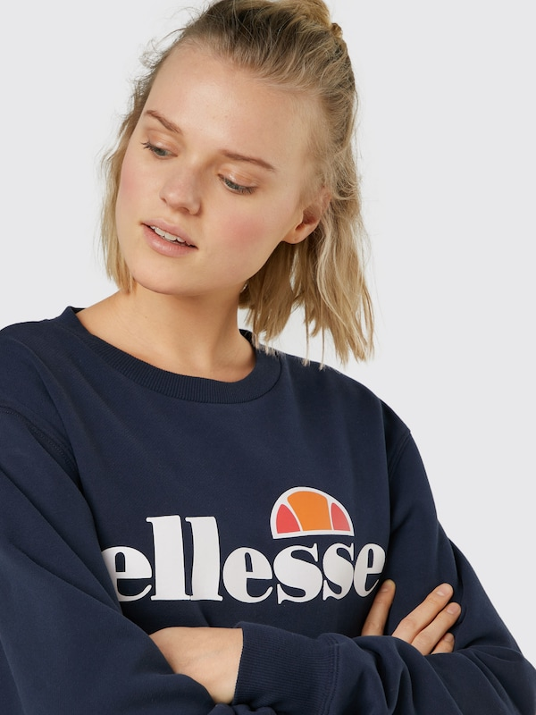 ELLESSE Sweatshirt 'Agata' in dunkelblau Rippbündchen