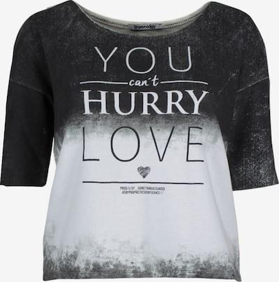 trueprodigy Shirt in anthrazit / weiß: Frontalansicht