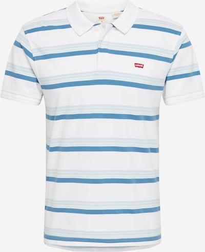 LEVI'S Shirt 'Original Batwing Polo' in de kleur Lichtblauw / Offwhite: Vooraanzicht