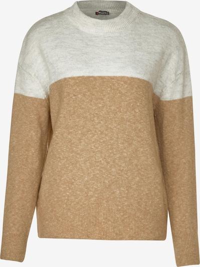 STREET ONE Pullover in beige / weiß, Produktansicht
