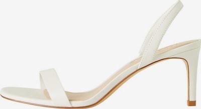 MANGO Sandales en blanc, Vue avec produit