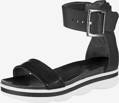 JOLANA & FENENA Klassische Sandale in schwarz / weiß, Produktansicht