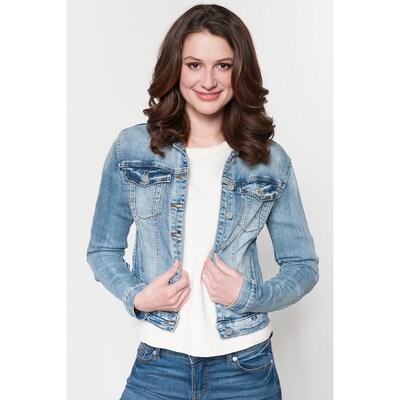 VILA Prehodna jakna 'Vishow' | moder denim barva, Prikaz modela