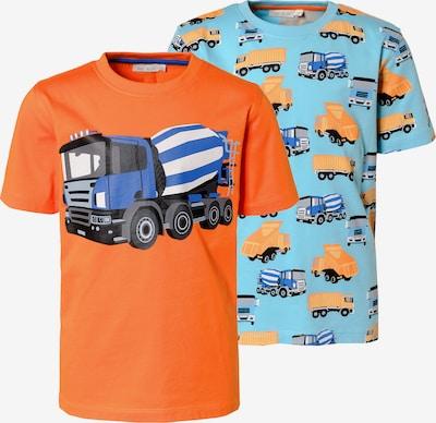 myToys-COLLECTION Shirt in hellblau / dunkelorange, Produktansicht