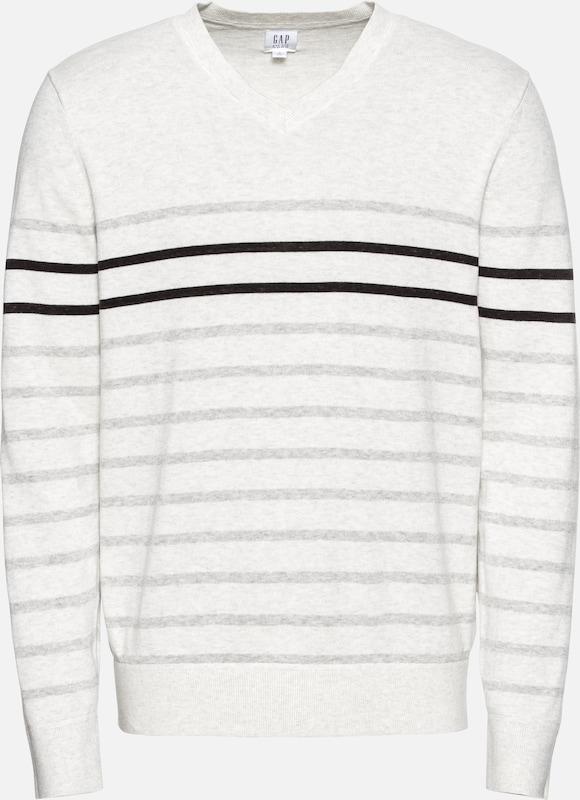 Breton 'v cttn Vee' Pullover Creme Stripe Gap aBtwqw