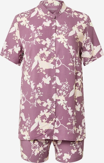 SCHIESSER Shorty en rosé / blanc, Vue avec produit