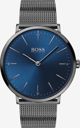 BOSS Uhr in dunkelblau / silbergrau, Produktansicht