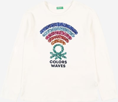 UNITED COLORS OF BENETTON Shirt in blau / pink / rot / schwarz / weiß, Produktansicht