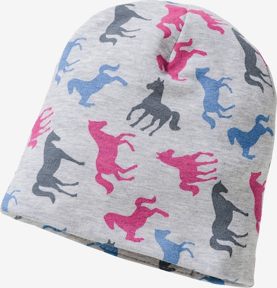 STERNTALER Beanie 'Slouch' in taubenblau / himmelblau / grau / pink, Produktansicht