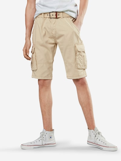 INDICODE JEANS Shorts 'Monroe' in beige: Frontalansicht
