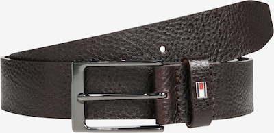 TOMMY HILFIGER Riem 'LAYTON PEBBLE LEATHER 3.5' in de kleur Donkerbruin, Productweergave