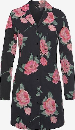 VIVANCE Nachthemd in grün / rosa / schwarz, Produktansicht