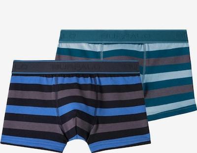 BUFFALO Boxer in blau / taupe / petrol / schwarz, Produktansicht