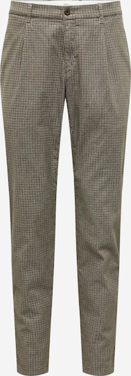 BRAX Trousers with creases 'Paul' in brown / black / white, Item view