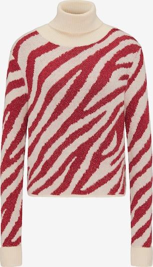 faina Pullover in beige / rot, Produktansicht