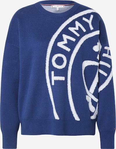 TOMMY HILFIGER Pullover 'Bobee Stamp' in dunkelblau / weiß, Produktansicht