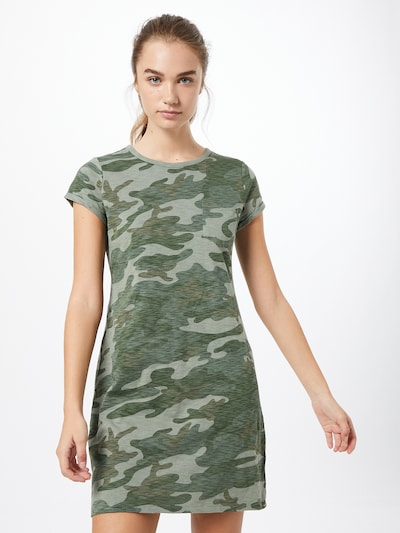 GAP Šaty - zelená / kaki, Model/-ka