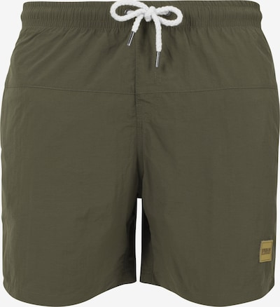 Urban Classics Badeshorts 'Block Swim Shorts' in khaki, Produktansicht
