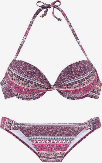 s.Oliver Bikini | petrol / jagoda / neonsko roza / svetlo roza / bela barva, Prikaz izdelka