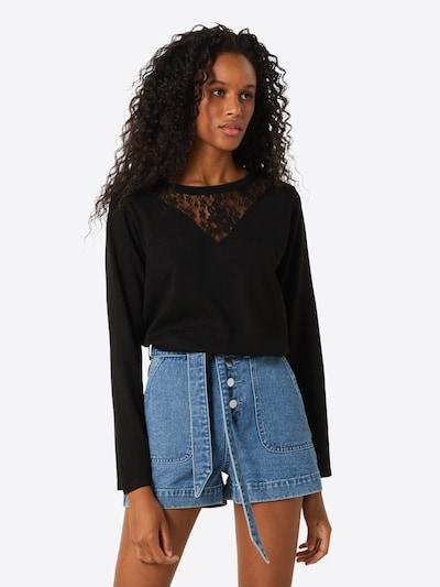 ABOUT YOU Pull-over 'Jasmina' en noir, Vue avec modèle