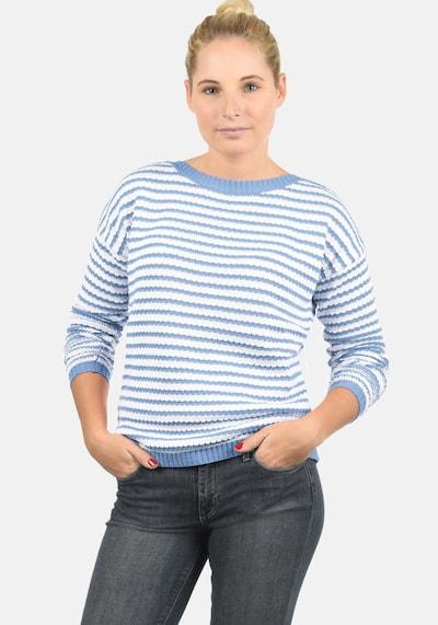 DESIRES Strickpullover 'Hilde' in hellblau / weiß, Produktansicht