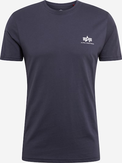 ALPHA INDUSTRIES Shirt 'Basic T Small Logo' in de kleur Navy, Productweergave